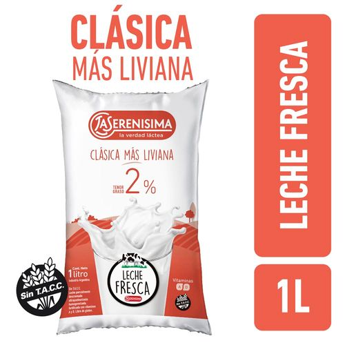 Leche Clasica Mas Liviana La Serenisima Sachet 1l