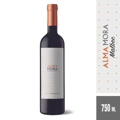 Vino Tinto Alma Mora Malbec 750 Cc