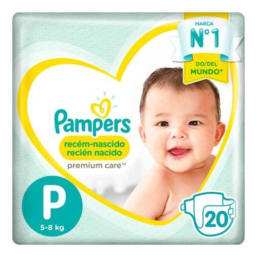 Pañales Pampers Recién Nacido Premium Care P 20 Un