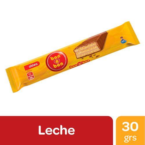 Obleas Bon O Bon Bañadas En Chocolate Con Leche 30 Gr