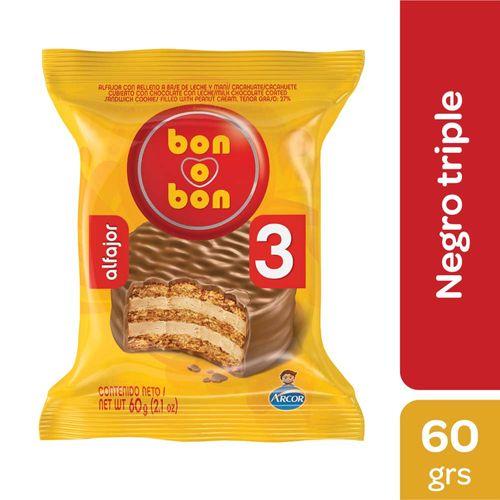 Alfajor Triple Negro Bob 60 Gr