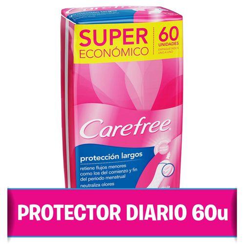 Protectores Diarios Carefree® Protección Largo - 60 Protectores