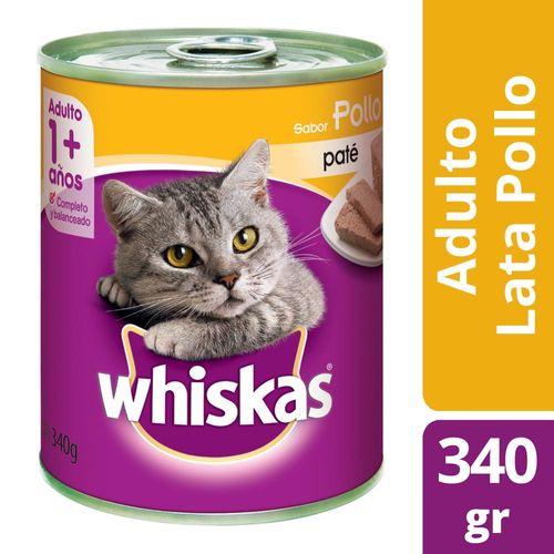 Alimento Para Gatos Whiskas Pasta Pollo 340 Gr