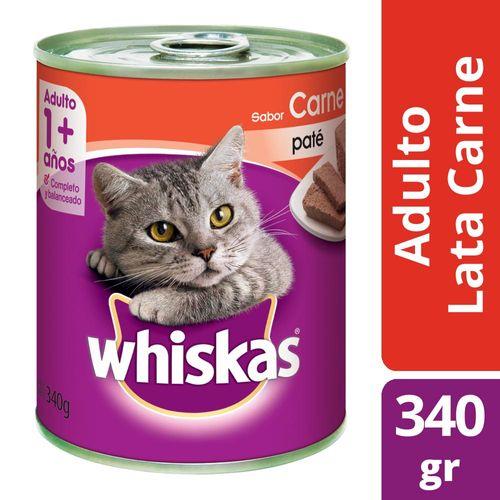 Alimento Para Gatos Whiskas Pasta Carne 340 Gr