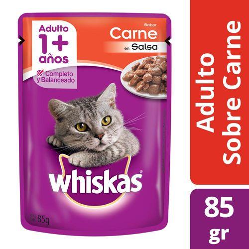 Alimento Para Gatos Whiskas Pasta Carne 85 Gr