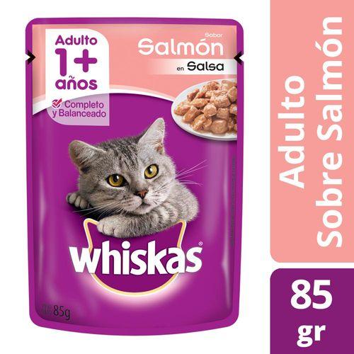 Alimento Para Gatos Whiskas Pasta Salmón 85 Gr