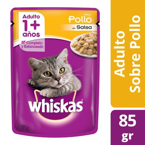 Alimento Para Gatos Whiskas Pasta Pollo 85 Gr