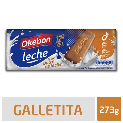 Galletitas Okebon Leche Con Dulce De Leche 273 Gr