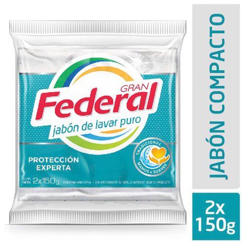 Jabon Gran Federal Maxima Blancura 2un