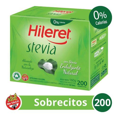 Endulzante Hileret Stevia X 200 Sobrecitos