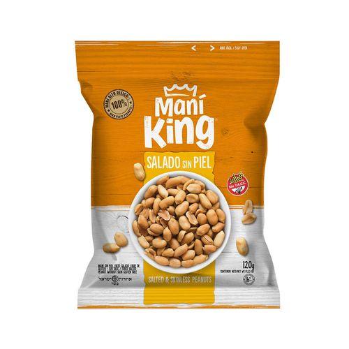 Mani Frito Salado Sin Piel Mani King X120 Gr