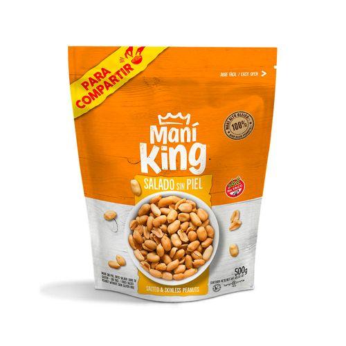 Maní King Salado Sin Piel X 500 Gr