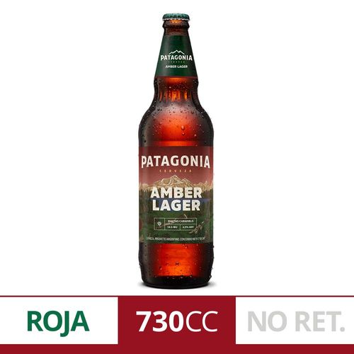 Cerveza Roja Patagonia Amber Lager 730 Ml Botella Descartable
