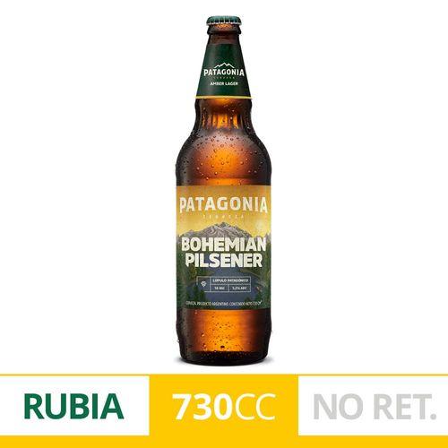 Cerveza Rubia Patagonia Bohemian Pilsener 730 Ml Botella Descartable