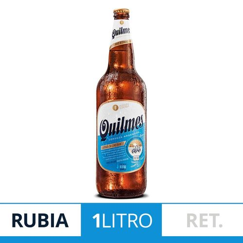 Cerveza Rubia Quilmes Clásica 1 L Botella Retornable