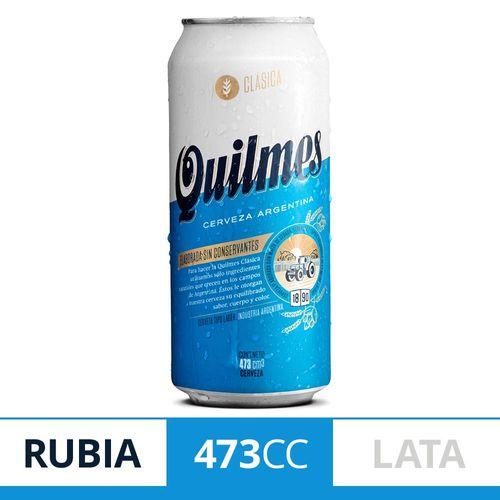 Cerveza Rubia Quilmes Clásica 473 Ml Lata