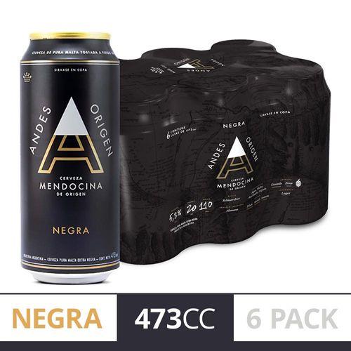 Cerveza Andes Negra 473cc Six Pack