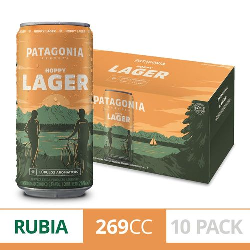 Cerveza Patagonia Hoppy Lager Pack X 10 U