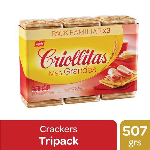 Galletitas De Agua Criollitas Más Grandes 507 Gr