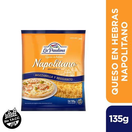 Queso Rallado La Paulina Hebras Napolitano 135 Gr