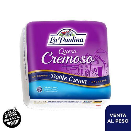 Queso Cremoso La Paulina Doble Crema - Se Francciona Por 1/2 Horma O Aprox 2 Kg