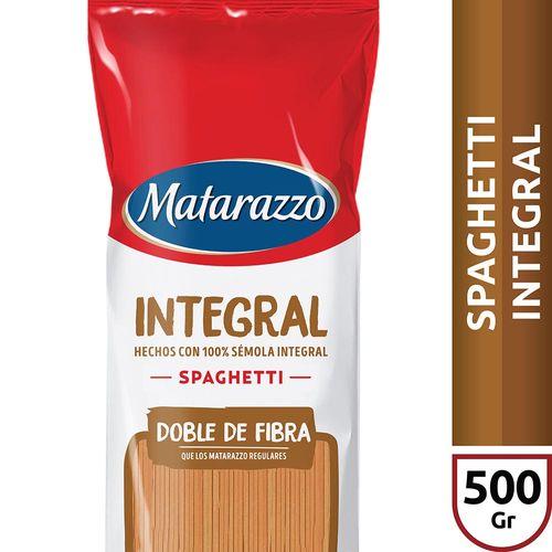 Fideos Spaghetti Integral Matarazzo X500 Gr