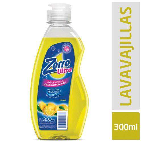 Detergente Lavavajillas Zorro Ultra 300 Ml