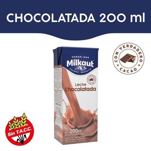 Leche Chocolatada Milkaut 200 Ml