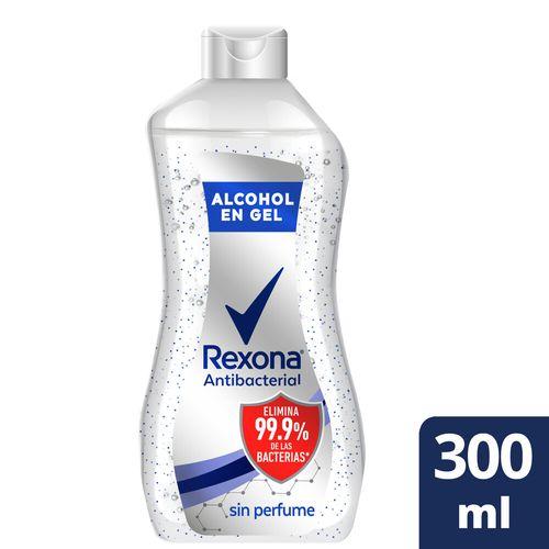 Alcohol En Gel Rexona Antibacterial Con Glicerina 300 Ml