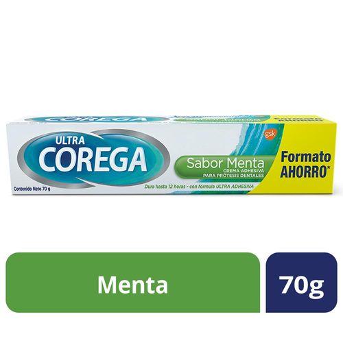 Crema Adhesiva Corega Para Protesis Menta 70 Gr
