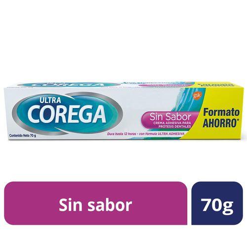 Crema Adhesiva Corega Para Protesis Sin Sabor 70 Gr