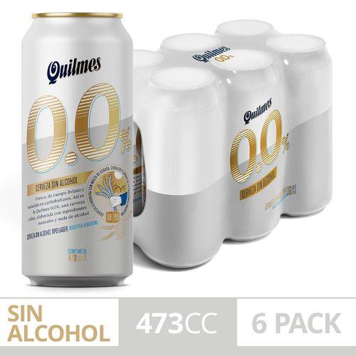 Cerveza Quilmes 0 473 Cc Six Pack