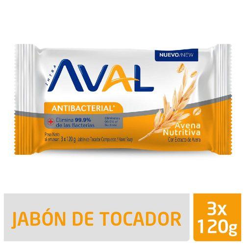 Jabón Aval Avena 3 X 120 Gr