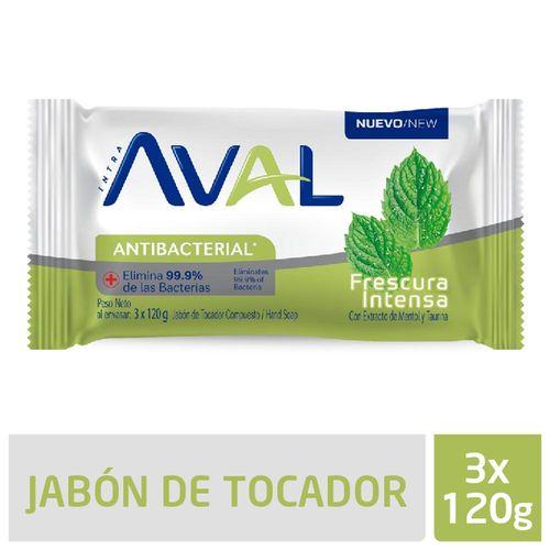 Jabón Aval Frescura Intensa 3 X 120 Gr