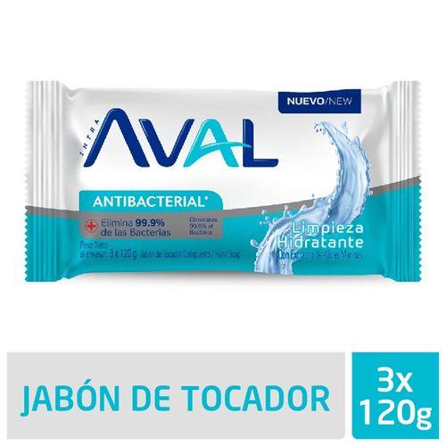 Jabón Aval Limpieza 3 X 120 Gr