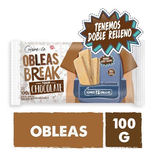 Obleas Sabor Chocolate 100 Gr Cuisine & Co