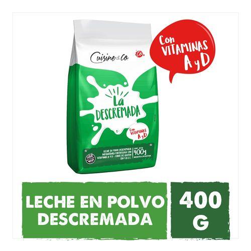 Leche En Polvo Descremada Cuisine & Co 400 Gr