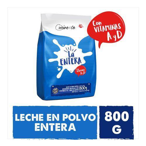 Leche En Polvo Entera Cuisine & Co 800 Gr