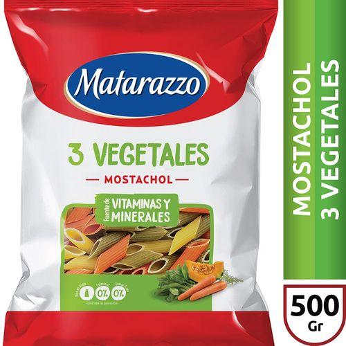 Fideos Mostachol 3 Vegetales Matarazzo X500 Gr