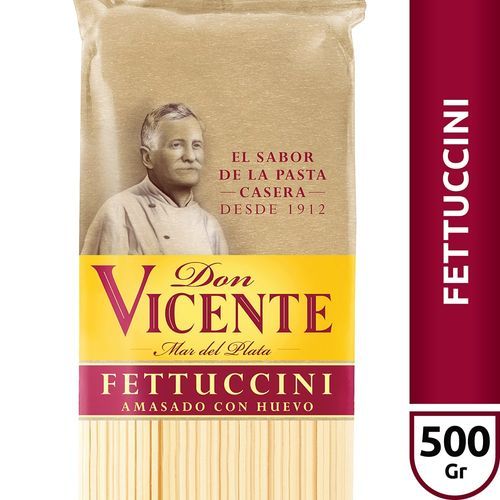 Fideos Al Huevo Fettuccini Don Vicente X500 Gr