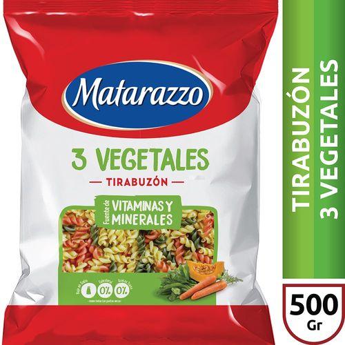 Fideos Tirabuzón 3 Vegetales Matarazzo X500 Gr