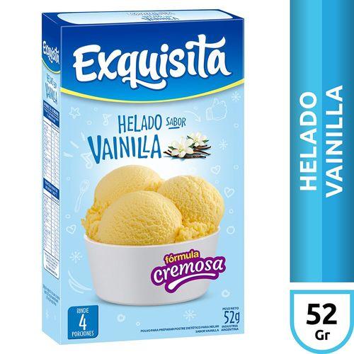 Exquisita Helado De Vainilla X52 Gr