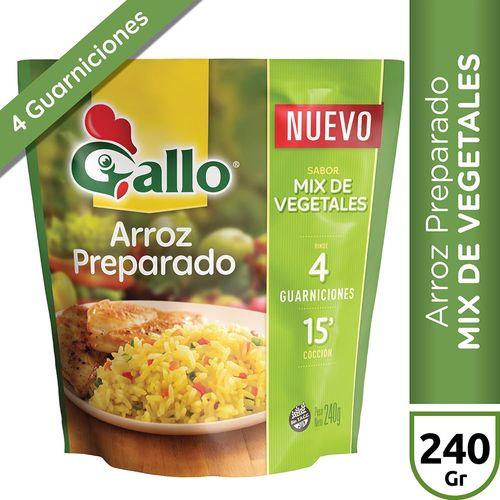 Arroz Preparado Mix Vegetales Gallo X240 Gr