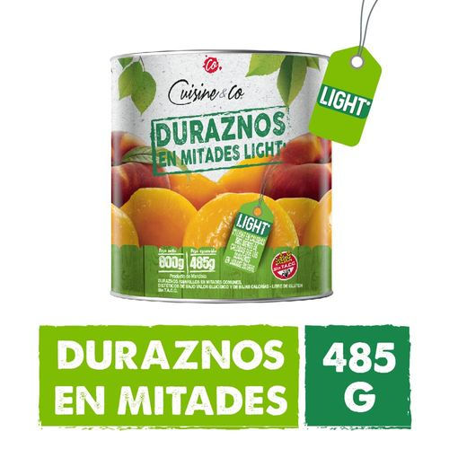 Duraznos En Mitades Light Cuisine & Co 485 Gr