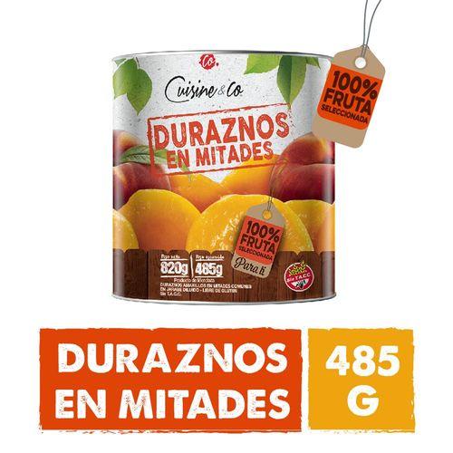 Duraznos En Mitades Cuisine & Co 485 Gr