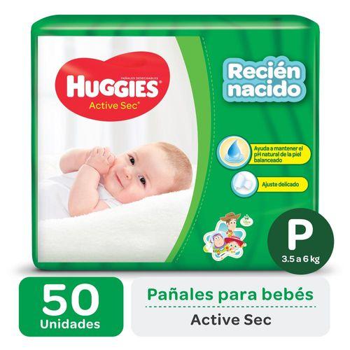 Pañal Huggies Active Sec P X50un