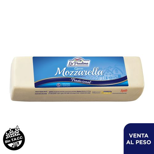 Queso Mozzarella La Paulina Horma 1 Kg
