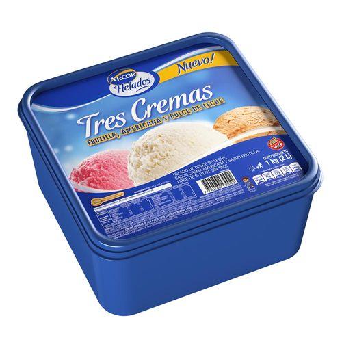 Helado Tres Cremas  Arcor 1kg