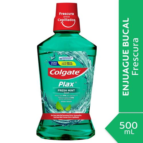 Enjuague Bucal Colgate Plax Fresh Mint 500 Ml Promo Lleve 500 Ml Pague 350 Ml