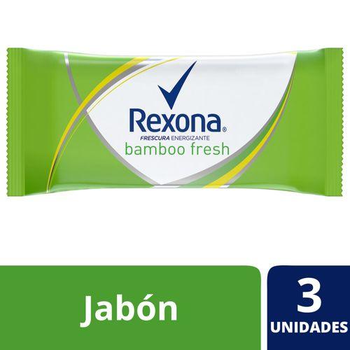 Jabón En Barra Rexona Bamboo Fresh 3x125 G